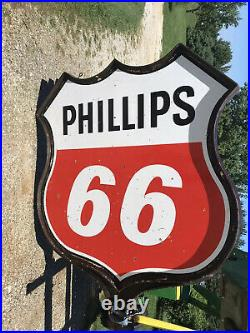 Phillips 66 Gas Station Sign And Pole 18 Pole Nice Sign. Porcelain Sign