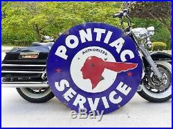 Pontiac Sign Original 42 porcelain dealership sign