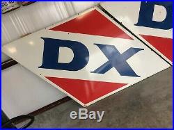 Porcelain D X Gas Station Signs. (2)