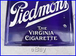 Porcelain Piedmont Virginia Cigarette Tobacco Double Sided Sign Gas Oil