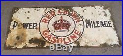Porcelain signs gas oilPorcelain sign RED CROWN GASOLINE 60x27