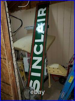 Rare Original 10 Ft Sinclair Porcelain Original Sign