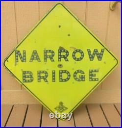 Rare! Original California Cat-Eye Reflector Porcelain Sign (NARROW BRIDGE)