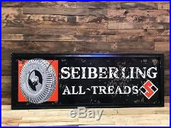 Seiberling All-Treads porcelain sign vintage collectable gas oil tire