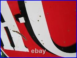 Sinclair Gasoline HC DSP Double Sided Porcelain Original Sign 6 ft Round Vintage