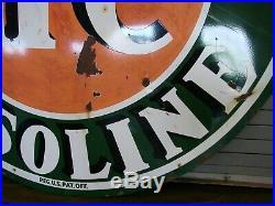 Sinclair HC Gasoline 72 Double Side Porcelain Service Station Sign