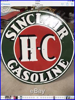 Sinclair H-C 48 double sided porcelain sign