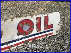 Standard Oil Porcelain Sign Gas Station Enamel Súper Rare Antique Original