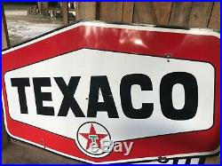 Texaco advertising porcelain large sign