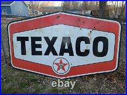 Texaco gas oil 54x86 Porcelain Double Sided Sign rare. Make offer