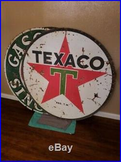 Texaco porcelain sign RARE 48in
