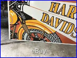 VINTAGE PORCELAIN HARLEY-DAVIDSON DEALER SIGN Knucklehead Panhead Flathead