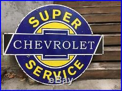 Very Large Chevrolet Double Sided Porcelain Sign