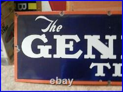 Vintage 1920'S-30'S THE GENERAL TIRE Porcelain Sign Gas Station DisplayNICE
