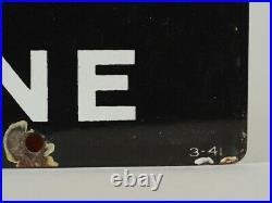 Vintage 1941 Texaco Sky Chief Gasoline Pump Plate Porcelain Sign 12x18