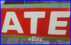 Vintage ASSOCIATED SIGN - 16 feet - Porcelain - flying A veedol tidewater