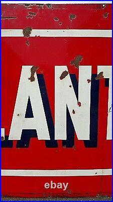 Vintage Atlantic Petroleum Oil Gas Double Sided Porcelain Sign 72 x 42 Heavy VG