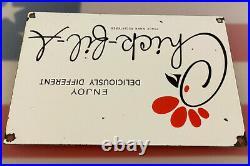 Vintage Chick-fil-a Porcelain Sign, Pump Plate, Oil, Grocery Store, Mcdonalds
