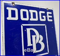 Vintage Dodge Brothers Porcelain Dealership Sign Steel Gas Oil Garage Pump Plate