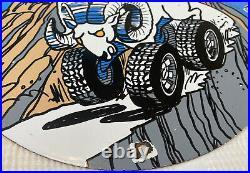 Vintage Dodge Ram Charger Porcelain Sign, Service, Gas, Oil, Dealership, Ford