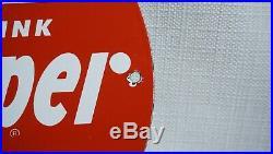 Vintage Dr Pepper Porcelain Sign Gas Station Oil Soda Pop General Store Rare