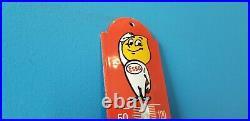 Vintage Esso Gasoline Porcelain Gas Auto Oil Drop Sign Service Sales Thermomete