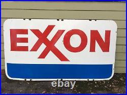 Vintage Exxon Gasoline Porcelain Gas Station One Sided 45 1/2 X 83