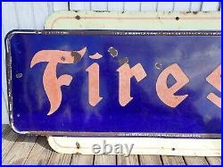 Vintage FIRESTONE 8' Porcelain Sign