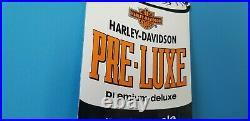 Vintage Harley Davidson Motorcycle Porcelain Gas Service Dealership Quart Sign