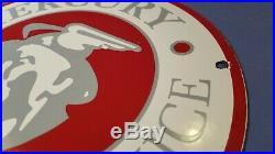 Vintage Mercury Gasoline Porcelain Sign Gas Service Station Automobile Ad
