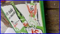 Vintage Mountain Dew Porcelain Gas Soda Beverage Hillbilly Cola Bottles Sign