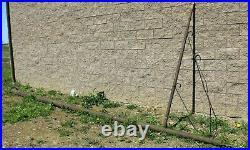 Vintage Original 18' Gas Station Porcelain Sign Pole