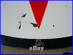 Vintage/Original 1959 TEXACO Porcelain Double Sided Gas/ Oil SIGN 6 Ft Diameter