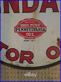 Vintage Original 23 Kendall Penzbest Motor Oil Porcelain Advertising Sign