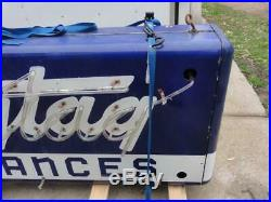 Vintage Original Maytag Porcelain Neon Double Sided Sign Gas Oil Can