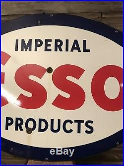 Vintage Original Porcelain Esso Dealer Sign Advertising Sign