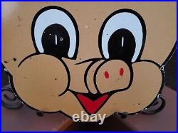 Vintage Porcelain Piggly Wiggly Grocery Advertising Sign