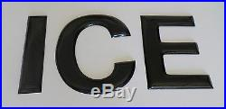 Vintage Porcelain Sign Letters That Spell Ice