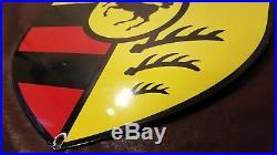 Vintage Porsche Porcelain Stuttgart Auto Gas 911 Service Station Dealership Sign