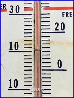 Vintage Prestone Anti-freeze Thermometer Porcelain Gas Oil Sign Advertising 36