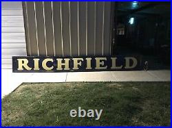 Vintage RICHFIELD Porcelain Gas and Oil Dealers Sign. 16 Long Odessa Texas