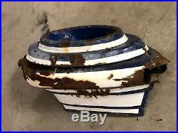 Vintage STANDARD Station Pole Sign Porcelain FLAME HOLDER Gas Oil Antique Rare