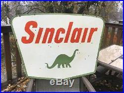 Vintage Sinclair Double Sided Porcelain Sign