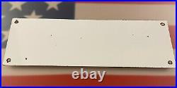 Vintage Sinclair Gasoline Porcelain Sign Station Pump Plate Motor Oil No Smoking
