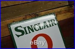 Vintage Sinclair Opaline Porcelain NOS Collectors Grade Sign Gas Station 5' MINT