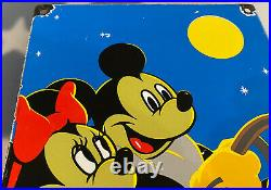 Vintage Standard Gasoline Porcelain Sign Gas Station Pump Plate Motor Oil Disney