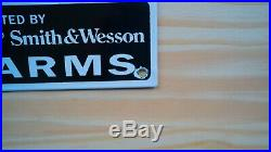 Vintage Winchester And Smith&wesson Porcelain Enamel Sign Nra Guns Pump Plate Nr