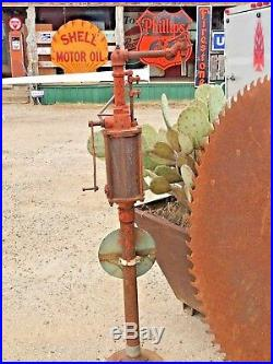 Vintage gulf kerosene dispenser, gulf gas pump, porcelain gulf sign, sinclair, mob