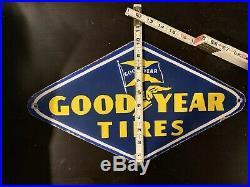 Vintage original Goodyear tires porcelain sign