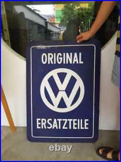 Vw Volkswagen Porcelain Dealership Enamel Service Reflective Sign